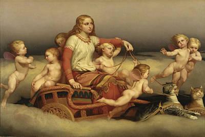 Norse Goddess Painting - Freyja Seeking Her Husband by Nils Blommer