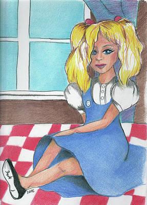 Drawing - Frey's Dolly by Loretta Nash