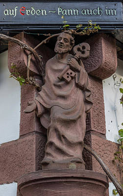 Grapevine Photograph - Friar In Rudesheim by Teresa Mucha