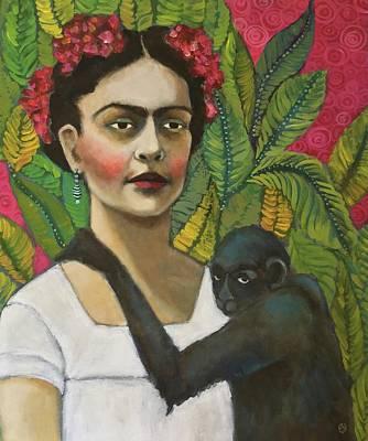 Frida Kahlo Painting - Frida And Blue by Jane Spakowsky