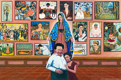 Frida And Diego Art Print by James Roderick