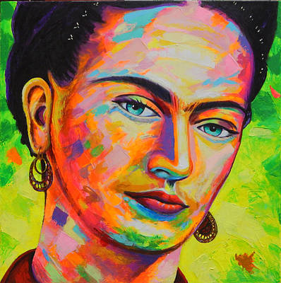Painting - Frida by Angel Ortiz