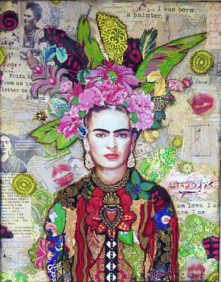 Painter Mixed Media - Frida Kahlo by Carrie Eckert