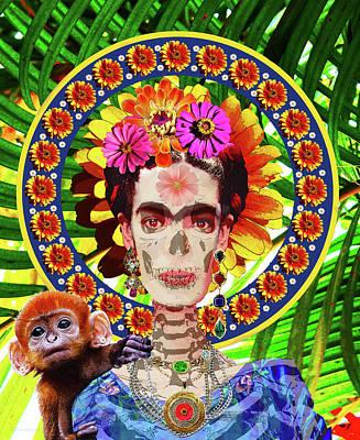 Digital Art - Frida De Muertos by Susan Vineyard