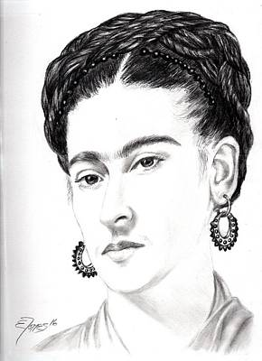 Drawing - Frida by Edgar Torres
