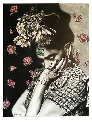 Floral Drawing - Frida by Gary Kroman