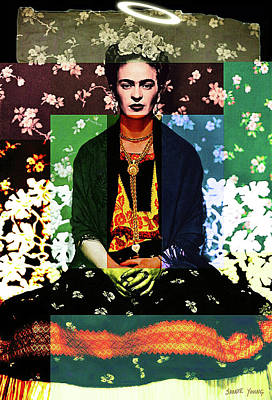 Digital Art - Frida Halo by Shonte Young