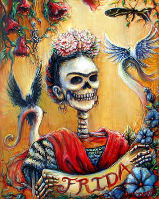 Calavera Painting - Frida by Heather Calderon