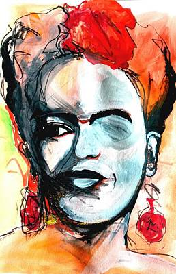 Drawing - Frida by Helen Syron
