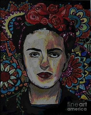 Painting - Frida In Flowers by Valarie Pacheco