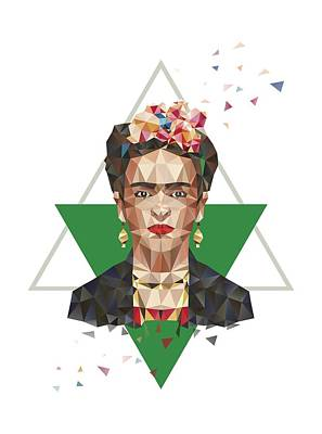 Frida In Triangles Art Print