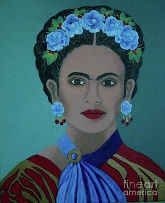 Painting - Frida by Iris Mora