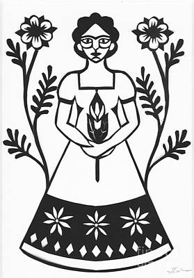 Frida Drawing - Frida by Jennifer Kuhns