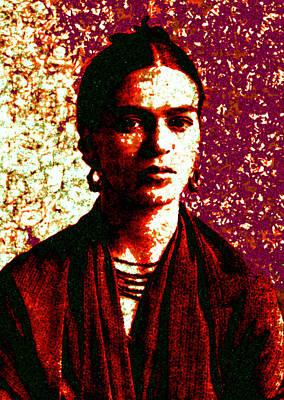 Digital Art - Frida Kahlo 1 by Joy McKenzie