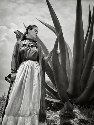 Rivera Photograph - Frida Kahlo 1937 by Carlos Lazurtegui