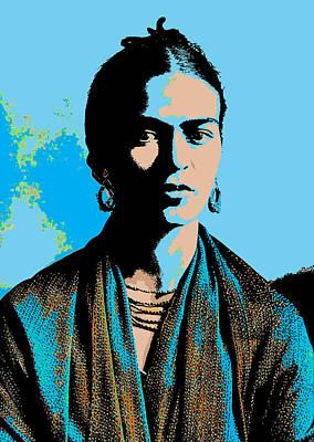Digital Art - Frida Kahlo 2 by Joy McKenzie