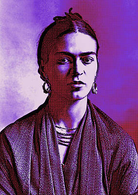 Digital Art - Frida Kahlo 3 Pop Art by Joy McKenzie