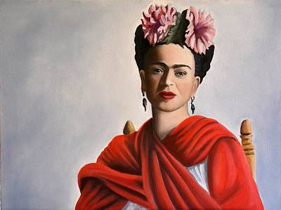 Painting - Frida Kahlo by Alan Conder