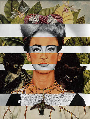 Kahlo Mixed Media - Frida Kahlo And Joan Crawford by Luigi Tarini
