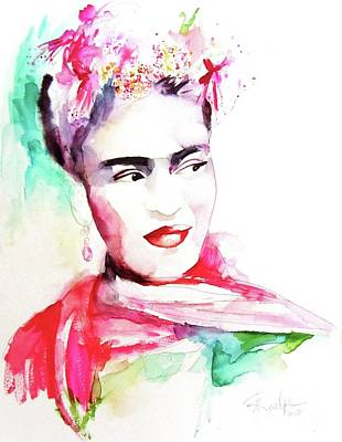 Painting - Frida Kahlo by Andrea Realpe