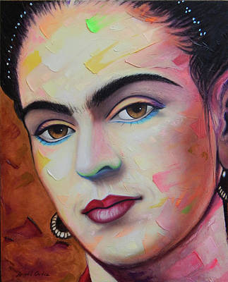 Painting - Frida Kahlo by Angel Ortiz