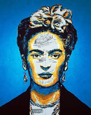 Painting - Frida Kahlo Blue by Havi