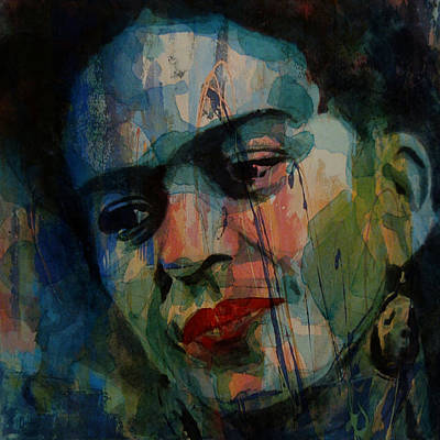 Painting - Frida Kahlo Colourful Icon  by Paul Lovering