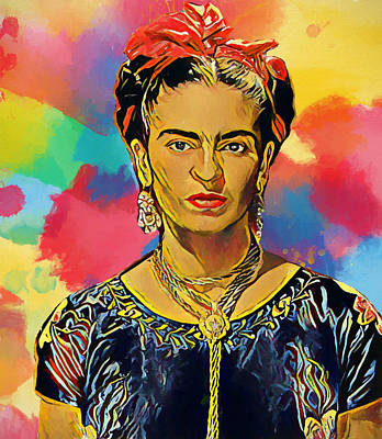 Painting - Frida Kahlo by Dan Sproul