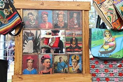 Dia De Los Muertos Photograph - Frida Kahlo Display II by Chuck Kuhn