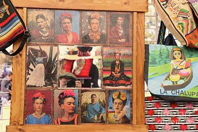 Dia De Los Muertos Photograph - Frida Kahlo Display Picts by Chuck Kuhn