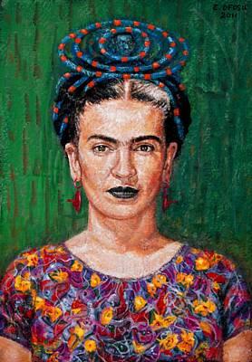 Frida Kahlo Art Print by Edward Ofosu