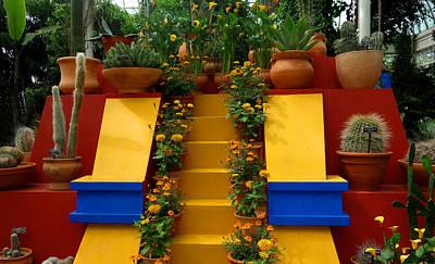 Frida Kahlo Exhibit At New York Botanic Garden Art Print
