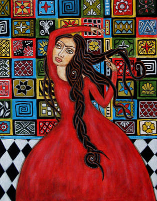 Flamenco Painting - Frida Kahlo Flamenco Dancing  by Rain Ririn