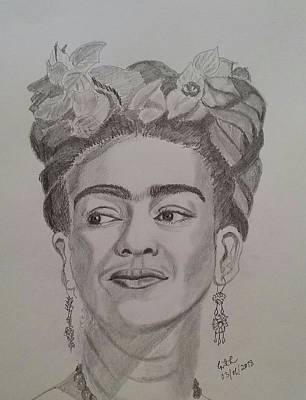 Painting - Frida Kahlo by Geeta Biswas