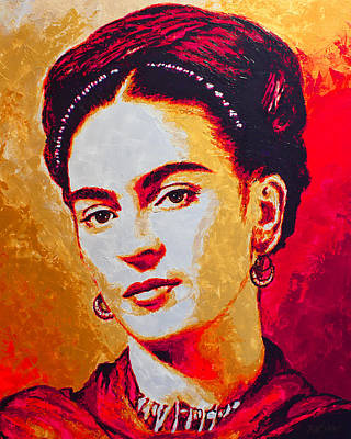 Mexican Decoration Painting - Frida Kahlo by Havi