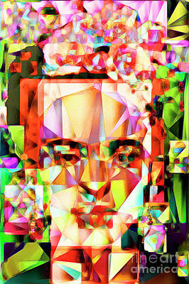 Self Portrait Photograph - Frida Kahlo In Abstract Cubism 20170326 V4 by Wingsdomain Art and Photography