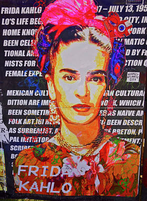 Photograph - Frida Kahlo by Joan Reese