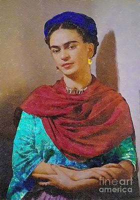 Frida Kahlo Art Print by John  Kolenberg