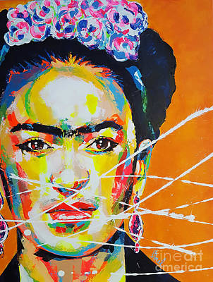Painting - Frida Kahlo by Marie-Armelle Borel