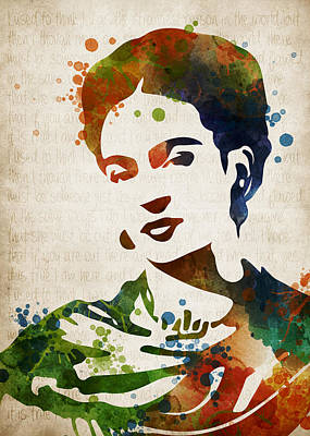 Multi Colored Digital Art - Frida Kahlo by Mihaela Pater