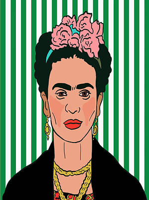 Feminist Mixed Media - Frida Kahlo by Nicole Wilson