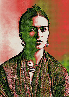 Digital Art - Frida Kahlo Pop Art 2 by Joy McKenzie