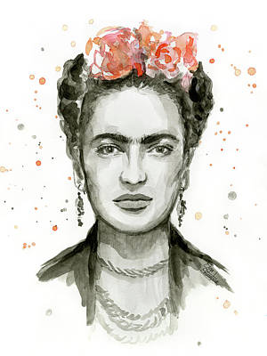 Mexican Art Painting - Frida Kahlo Portrait by Olga Shvartsur