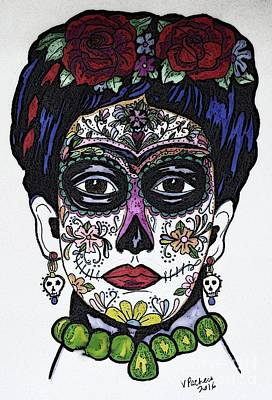 Drawing - Frida Kahlo by Valarie Pacheco