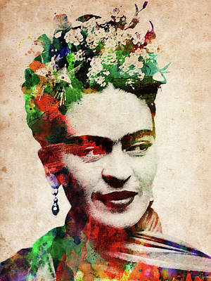 Digital Art - Frida Kahlo Watercolor by Mihaela Pater