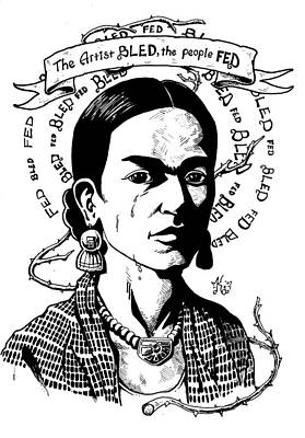 Frida Art Print by Marcus Anderson