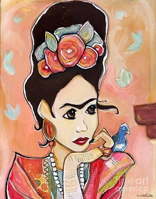 Mixed Media - Frida Papel by Annalisa Loevenguth