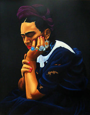 Frida Art Print by Peter Stephen Wise