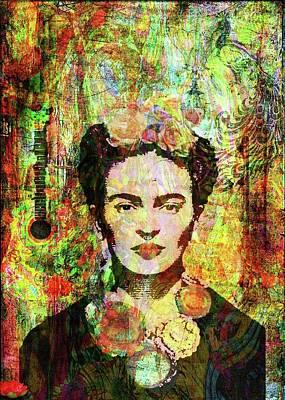 Digital Art - Frida Tribute by Angela Holmes