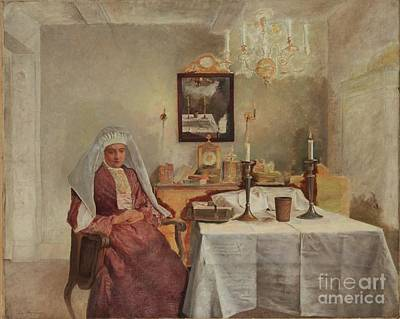 Isidor Kaufmann Painting - Friday Evening by Celestial Images